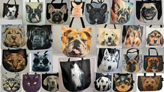 Tote bags of all patterns and types with 3D pictures of animals