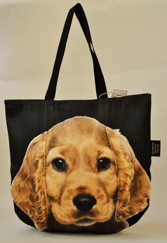 Animal Tote Bag with 3D Face of Cocker Spaniel #052