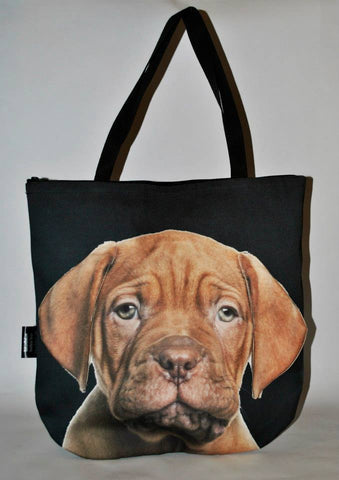 Animal Tote Bag with 3D Face of Dogue de Bordeaux #054