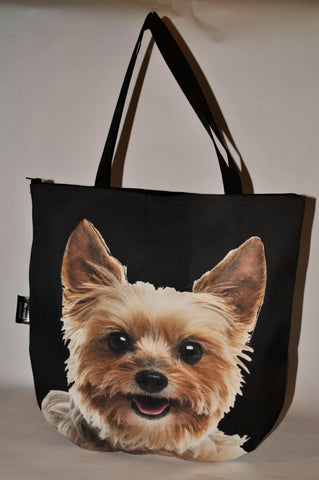 Animal Tote Bag with 3D Face of Yorkshire Terrier v.3 #058