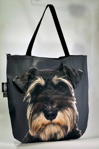 Animal Tote Bag with 3D Face of Schnauzer v.2 #076