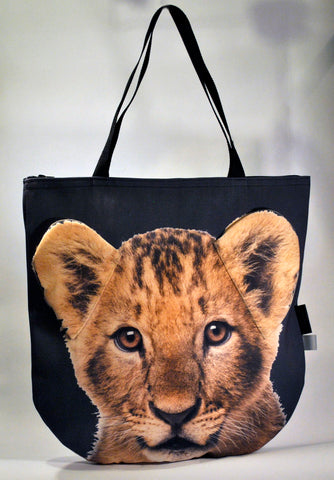 Animal Tote Bag with 3D Face of Lion Simba #080