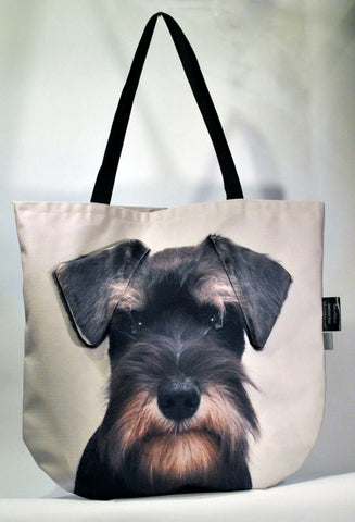 Animal Tote Bag with 3D Face of Schnauzer v.3 #083