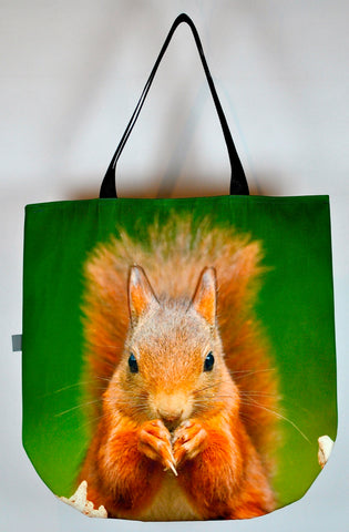 Animal Tote Bag with 3D Face of Squirrel #100