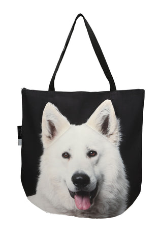 Animal Tote Bag with 3D Face of Berger Blanc Suisse #140
