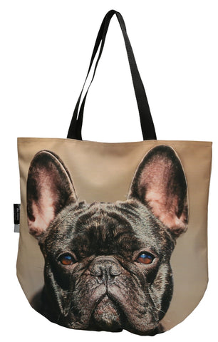 Animal Tote Bag with 3D Face of French Bulldog Marengo #151