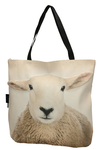 Animal Tote Bag with 3D Face of Sheep Dolly #164