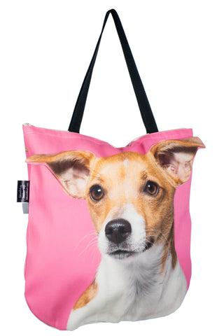 Animal Tote Bag with 3D Face of Jack Russell Terrier v.2 #178