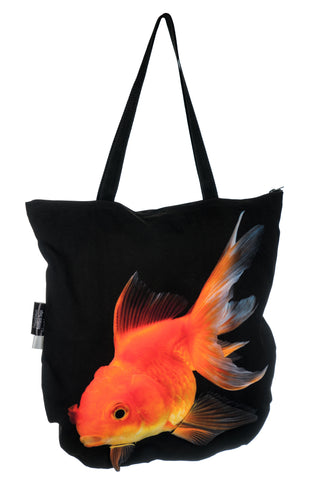 Animal Tote Bag with 3D Face of Goldfish #211