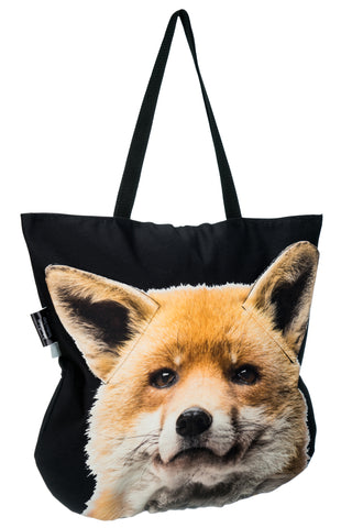 Animal Tote Bag with 3D Face of Fox #241