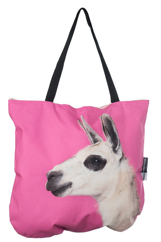 Animal Tote Bag with 3D Face of Alpaca #255