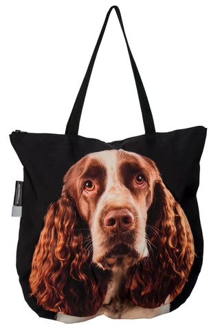 Animal Tote Bag with 3D Face of English Springer Spaniel #260