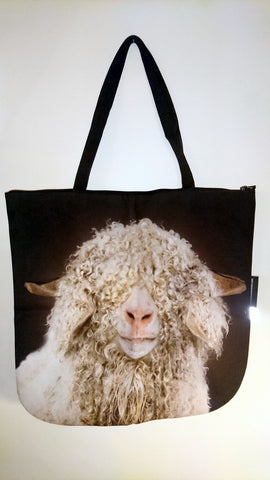 Animal Tote Bag with 3D Face of Sheep Angora #264