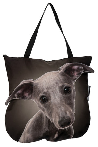 Animal Tote Bag with 3D Face of Whippet #268