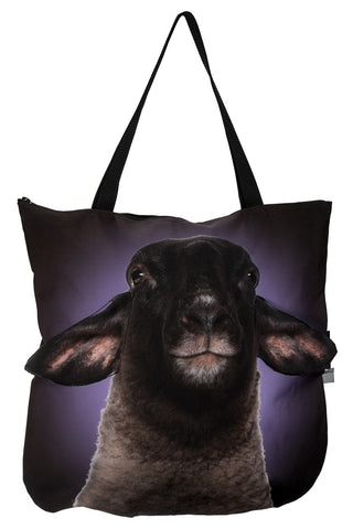 Animal Tote Bag with 3D Face of Sheep Suffolk #269