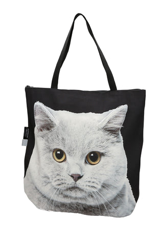 Animal Tote Bag with 3D Face of British Blue Shorthair Cat #137