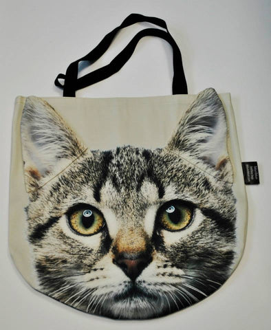 Animal Tote Bag with 3D Face of Tiger Cat #002