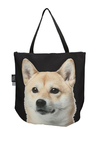 Animal Tote Bag with 3D Face of Akita Inu #142
