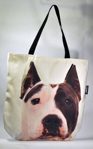 Animal Tote Bag with 3D Face of English Bull Terrier - Bully #088