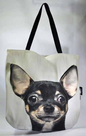 Animal Tote Bag with 3D Face of Chihuahua v.1 #089