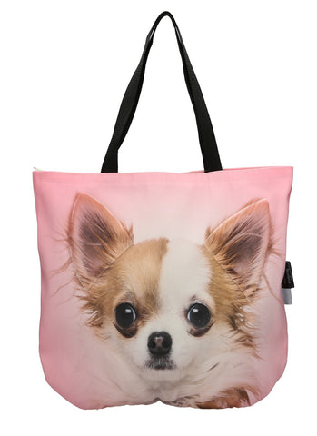 Animal Tote Bag with 3D Face of Chihuahua v.2 #117