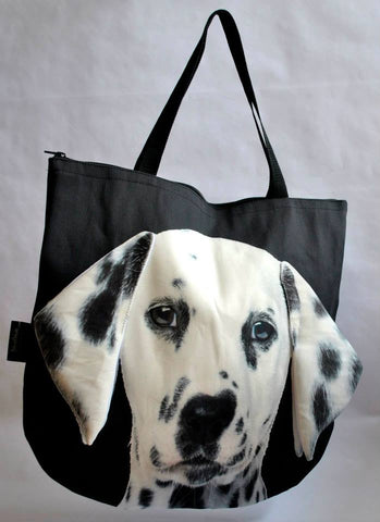 Animal Tote Bag with 3D Face of Dalmatian Dog #033