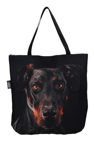Animal Tote Bag with 3D Face of Doberman Pinscher #118