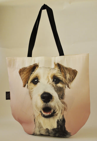 Animal Tote Bag with 3D Face of Fox Terrier #053