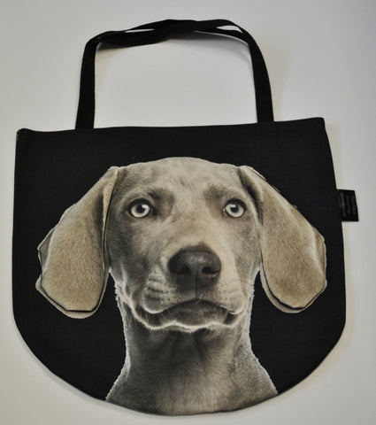 Animal Tote Bag with 3D Face of Grey Pointer #004