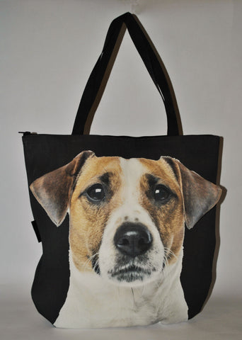 3D Bag with Face of Jack Russell Terrier