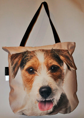 Animal Tote Bag with 3D Face of Jack Russell Wirehaired #072
