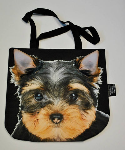 Animal Tote Bag with 3D Face of Yorkshire Terrier v.1 #011