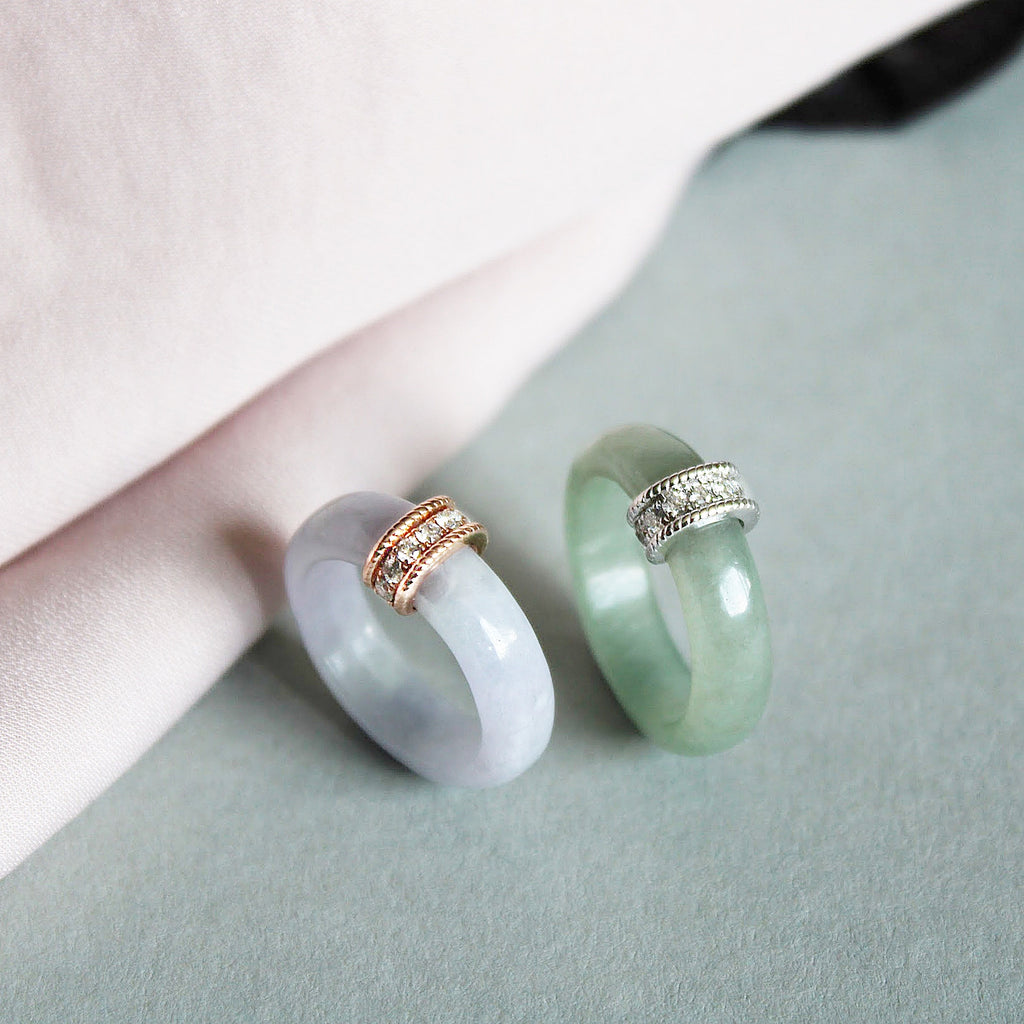 [Made-to-Order] Weaven Love Jade Ring in Green Jade