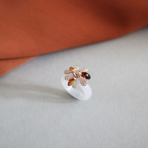 Mother and Child Bee (Trio) Ring (9K Solid Gold)