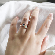 Dazzle Collection - Stackable White Jade Ring