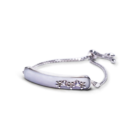 Elongated Bracelet with Trio Floral
