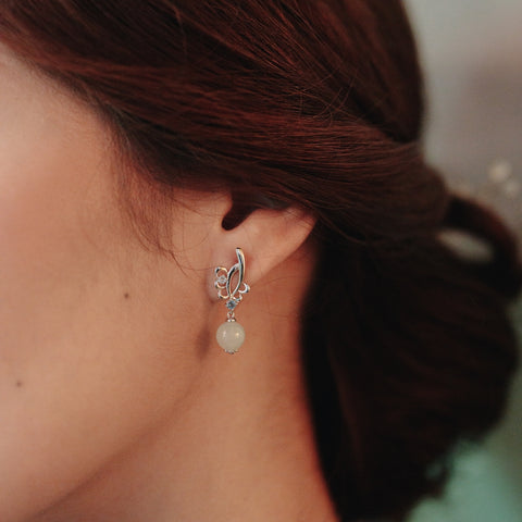 [Made-to-Order] Dazzle Collection - Stefi Earring in London Blue Topaz