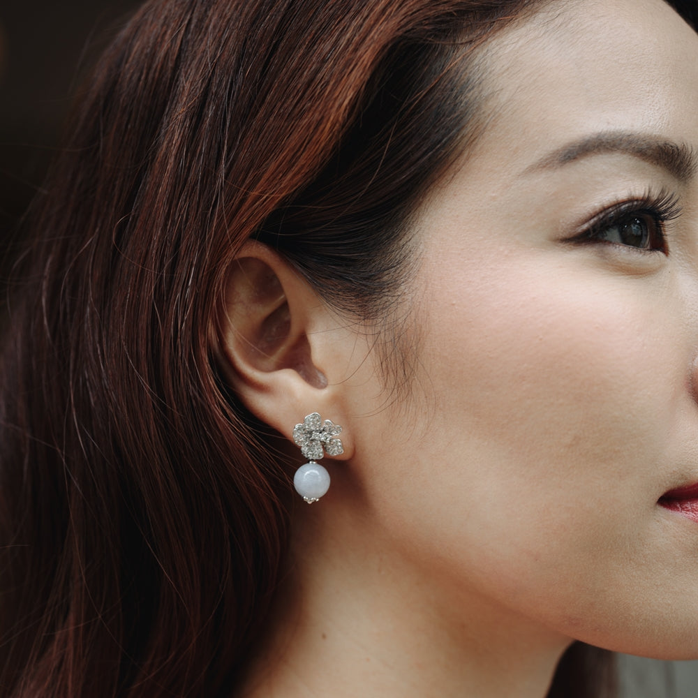 Camellia Earring (9K Solid Gold)