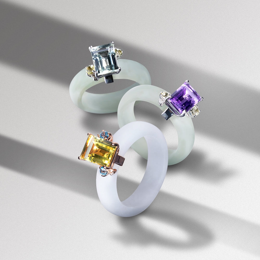 [Made-to-Order] Candylicious Emerald-Cut Jade Ring