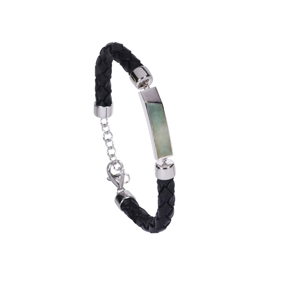 GEN.K HOMME: Joel Bar Leather Bracelet