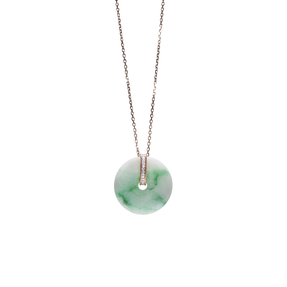 [NEW IN] Weaven Love Jade Donut Necklace (14K Solid Gold)