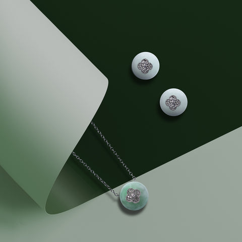 Coze Donut Jade Earrings