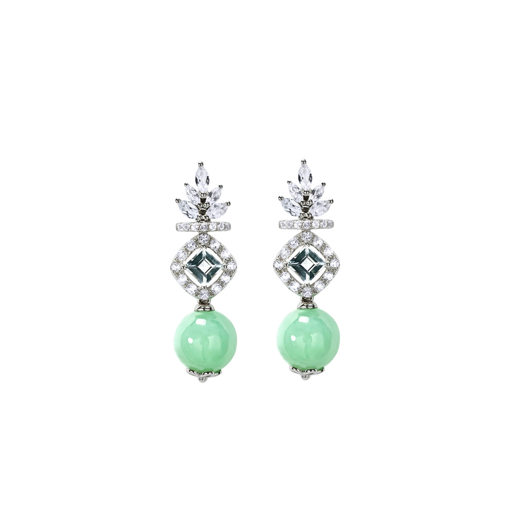 [Made-to-Order] Esly Jade Earring in Green