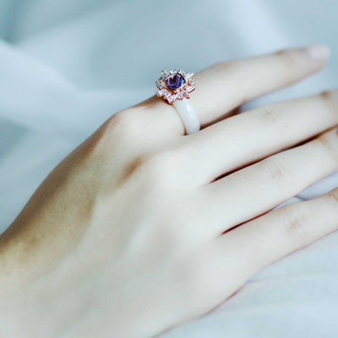 [Made-to-Order] Sundial Ring in Lavender Jade