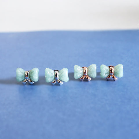 [Made-to-Order] Jade on Jade Ribbon Series: Ribbon Jade Earring