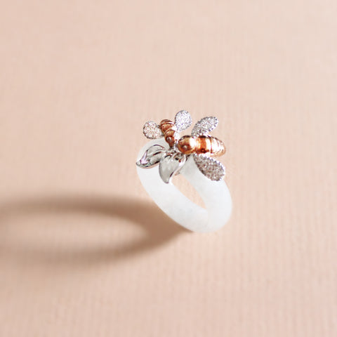 [Made-to-Order] Mother and Child Bee Ring