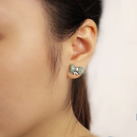 Jade on Jade Ribbon Series: Ribbon Jade Earring