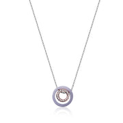 Double Happiness - Inner Circle Necklace in Lavender Jade