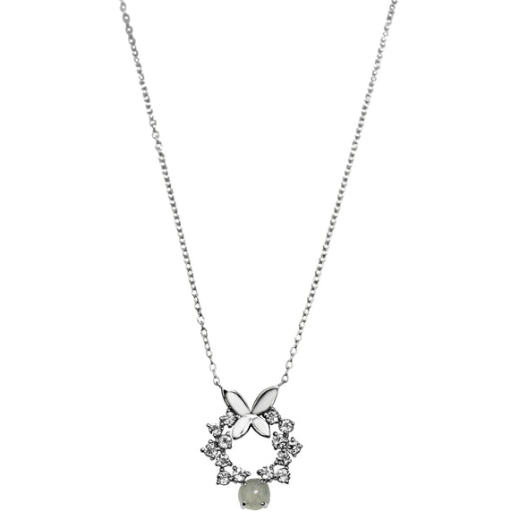 Dazzle Collection - Butterfly Icy Jade Necklace