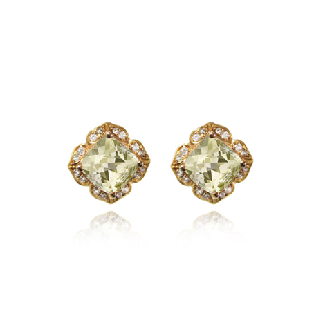 Ciaberra Earring, embellished with White Sapphires